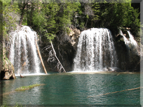 Hanging Lake waterfalls