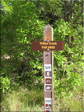 Sign at the trail head