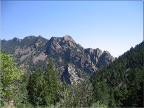 view from Rattlesnake Gulch trail